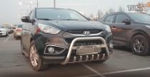 Кенгурятник Хендай ix35 (защита переднего бампера Hyundai ix35)