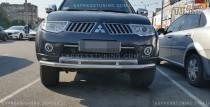 защита под бампер Mitsubishi Pajero Sport 2