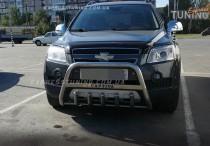 Кенгурятник Шевроле Каптива (защита переднего бампера Chevrolet Captiva)