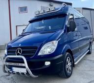 Кенгурятник Mercedes Sprinter W906 с надписью (защита переднего бампера Мерседес Спринтер W906)