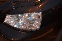Реснички на передние фары автомобиля Шевроле Лачетти седан