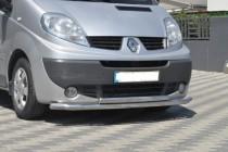 Двойная дуга Рено Трафик 2 нержавейка (защита переднего бампера Renault Trafic 2)
