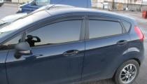 Ветровики Форд Фиеста 6 (дефлекторы окон Ford Fiesta 6 5d)