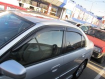 Ветровики Хонда Цивик 7 седан (дефлекторы окон Honda Civic 7)