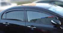 Ветровики Хонда Цивик 8 седан (дефлекторы окон Honda Civic 8)