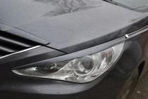 Реснички на фары Хендай Соната 6 YF (накладки на фары Hyundai Sonata YF поколение 6)