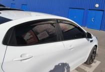 Ветровики Киа Рио 3 седан (дефлекторы окон Kia Rio 3 sedan)