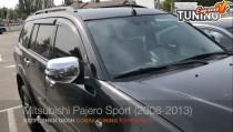 Ветровики Митсубиси Паджеро Спорт 2 (дефлекторы окон Mitsubishi Pajero Sport 2)