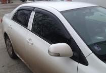 Ветровики Тойота Королла 10 Е150 (дефлекторы окон Toyota Corolla X E150)