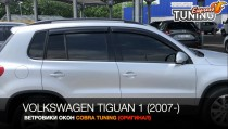 Ветровики Фольксваген Тигуан 1 (дефлекторы окон Volkswagen Tiguan 1)