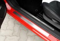 Хром накладки на пороги Альфа Ромео 147 (хромированные защитные накладки Alfa Romeo 147)