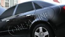 Хромированные молдинги стекол Ауди А4 Б7 (хром нижние молдинги стекол Audi A4 B7)