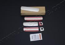 Хромированные накладки на ручки дверей Ауди А6 С5 (Хром пакет на