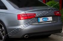 Хромированная кромка багажника Ауди А6 С7 (хром нижняя кромка крышки багажника Audi A6 C7)