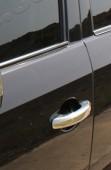 Хром накладки на ручки Ауди Q7 (хромированные накладки на дверные ручки Audi Q7)