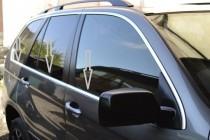Хромированные молдинги стекол БМВ Х5 Е53 (хром нижние молдинги стекол BMW X5 E53)