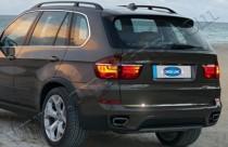 Хромированная кромка багажника БМВ Х5 Е70 (хром нижняя кромка крышки багажника BMW X5 E70)