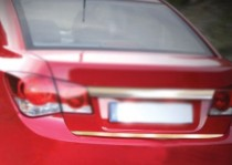 Хромированная кромка багажника Шевроле Круз (хром нижняя кромка крышки багажника Chevrolet Cruze)
