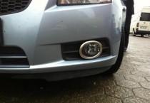 Хромированная окантовка противотуманных фар Шевроле Круз (хром накладки на противотуманные фары Chevrolet Cruze)