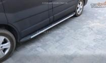Силовые пороги Опель Виваро 1 Dolunay (подножки на Opel Vivaro I стиль Porsche Cayenne)