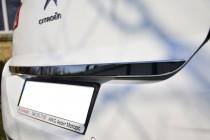 Хромированная кромка багажника Ситроен С4 2 (хром нижняя кромка крышки багажника Citroen C4 2)