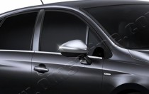 Хром накладки на зеркала Ситроен С4 2 (хром крышки боковых зерка
