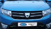 хромированные накладки на решетку радиатора Renault Logan MCV 2