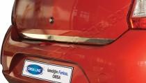 Хромированная кромка багажника Рено Сандеро 2 (хром нижняя кромка крышки багажника Renault Sandero 2)