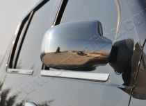 Хром накладки на зеркала Рено Сандеро 2 (хромированные накладки на боковые зеркала Renault Sandero 2)