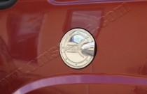 Хром накладка на лючок бензобака Фиат Добло 1 (хромированный лючок на бензобак Fiat Doblo 1)