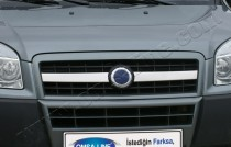 хромированные накладки на решетку радиатора Fiat Doblo 1