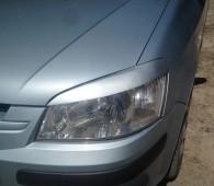Реснички Хундай Гетц дорестайл (реснички на фары Hyundai Getz 2002-2005г)