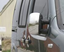 Хром накладки на зеркала Фиат Добло 1 (хромированные накладки на боковые зеркала Fiat Doblo 1)