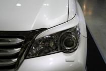 Реснички на фары Лексус GX460 (реснички для Lexus GX460 на передние фары)
