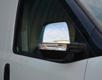 Хромированные накладки на зеркала Фиат Добло 2 (хром окантовка з