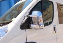 Хром накладки на зеркала Фиат Дукато 3 (хромированные накладки на боковые зеркала Fiat Ducato 3)