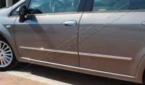 Хромированные молдинги дверей Фиат Линеа (хром накладки на двери Fiat Linea)