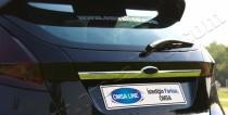 Хромированная накладка на багажник Форд Фиеста 6 (хром накладка над номером Ford Fiesta 6)