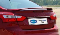 Хромированная накладка на багажник Форд Фокус 3 (хром накладка над номером Ford Focus 3)