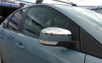 Omsa Line Хром накладки на зеркала Форд Фокус 3 (хромированные накладки на боковые зеркала Ford Focus 3)