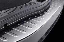Матовый порог заднего бампера Форд Мондео 4 (матовая защитная накладка на задний бампер Ford Mondeo 4)