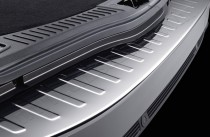 Omsa Line Матовый порог заднего бампера Форд Мондео 4 (матовая защитная накладка на задний бампер Ford Mondeo 4)