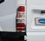 Хромированная окантовка на стопы Форд Транзит 5 (хром накладки на стопы Ford Transit 5)