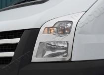 Хром накладки на фары Форд Транзит 6 (хромированная окантовка фар Ford Transit 6)