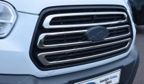 Хром накладки на решетку радиатора Форд Транзит 7 (хромированные накладки на решетку радиатора Ford Transit 7)