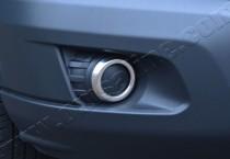 Хромированная окантовка противотуманных фар Форд Транзит 7 (хром накладки на противотуманные фары Ford Transit 7)