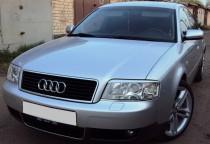 Реснички на фары Ауди А6 С5 (накладки Audi A6 C5 на передние фары)