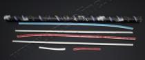Хром накладки на боковые молдинги Хендай Акцент 4 (нижние хром м