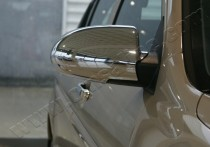 Хром накладки на зеркала Хендай Акцент 3 (хромированные накладки на боковые зеркала Hyundai Accent 3)