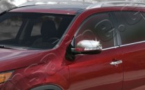 Omsa Line Хром накладки на зеркала Киа Соренто 2 (хромированные накладки на боковые зеркала Kia Sorento 2)